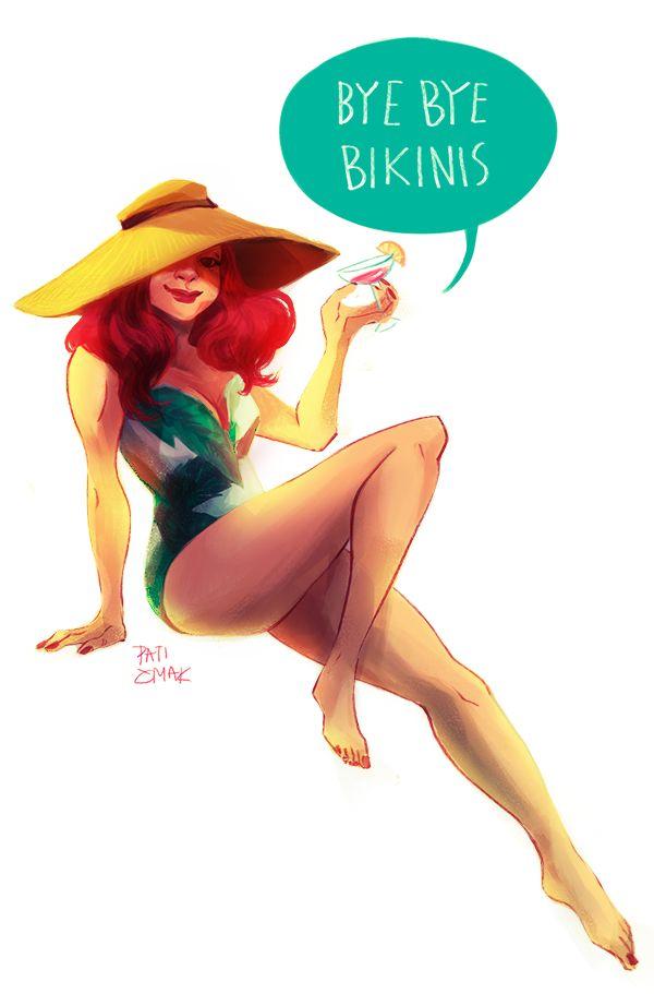 Bye bye bikinis || Natasha Romanoff || by Pati Cmak || 600px × 911px || #fanart