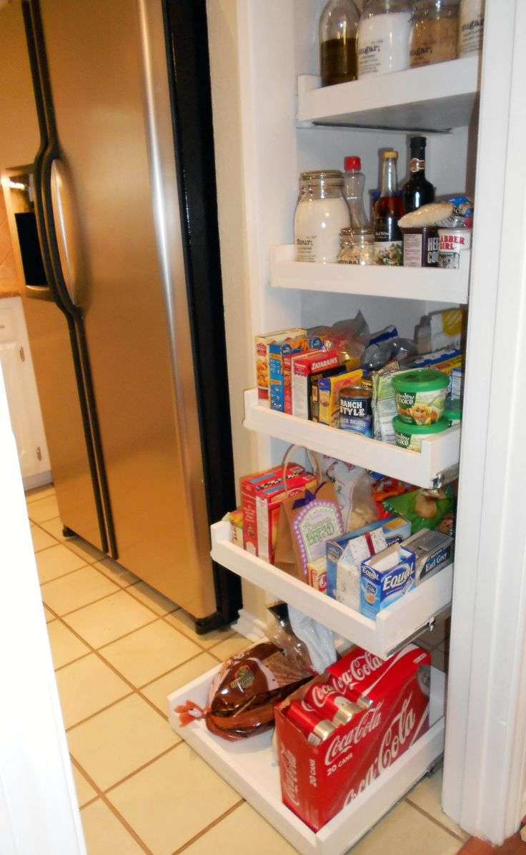 DIY Glide Out Pantry Shelves ~ This Is An Awesome Step By Step Photo