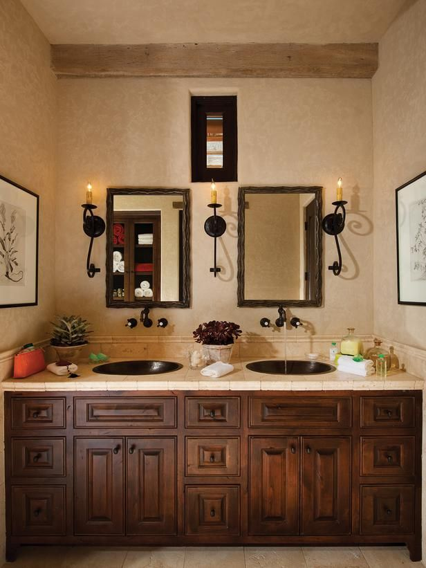 Bold Bathroom With Dark Glass Tiles and Crystal Lights : Designers' Portfolio : HGTV - Home & Garden Television