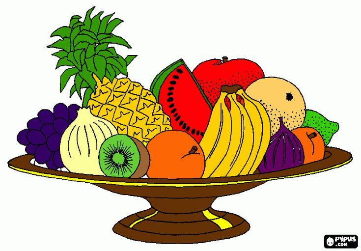 Canasta Con Frutas Animadas Imagui Mercados Pinterest