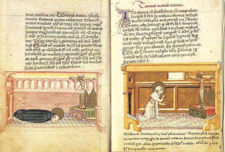 Modi Orandi Sancti Dominici, 2 : la prostration, 3, la correction, codex rossianus 3, 1450, bibliothèque vaticane,