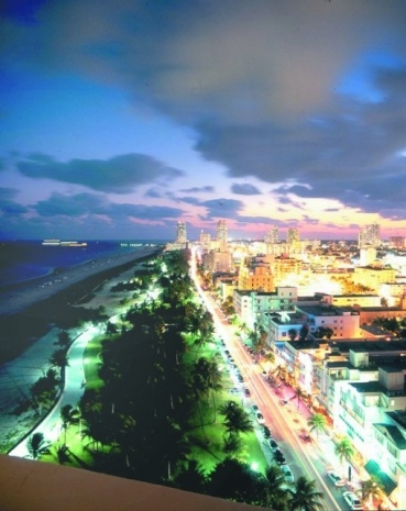 An aerial view of South Beach, Miami's famous hotspot
