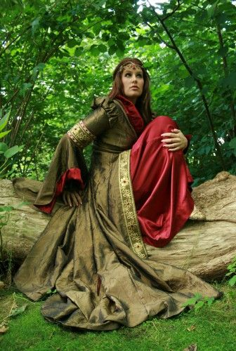 forêt, elfique,princesse,robe