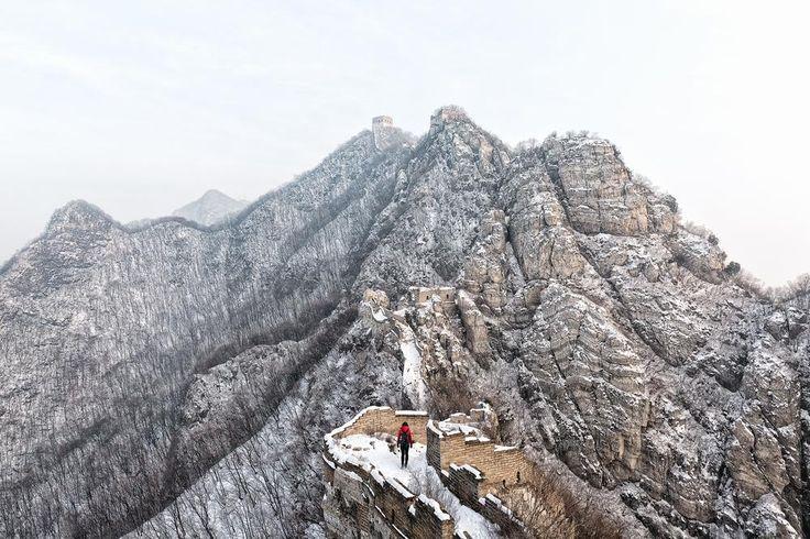L'impressionnante muraille de #Chine  à découvrir en #croisière. Photo Carson Leong
