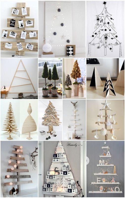 Diferentes formatos de árbol de Navidad, a cada cual más original y chulo.