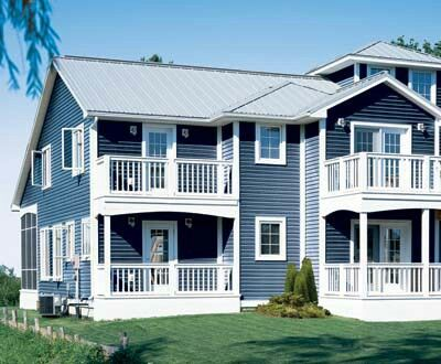 Blue house siding images galleries for Blue siding house