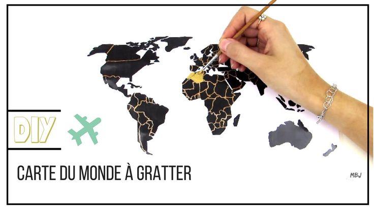DIY II Carte du monde à gratter