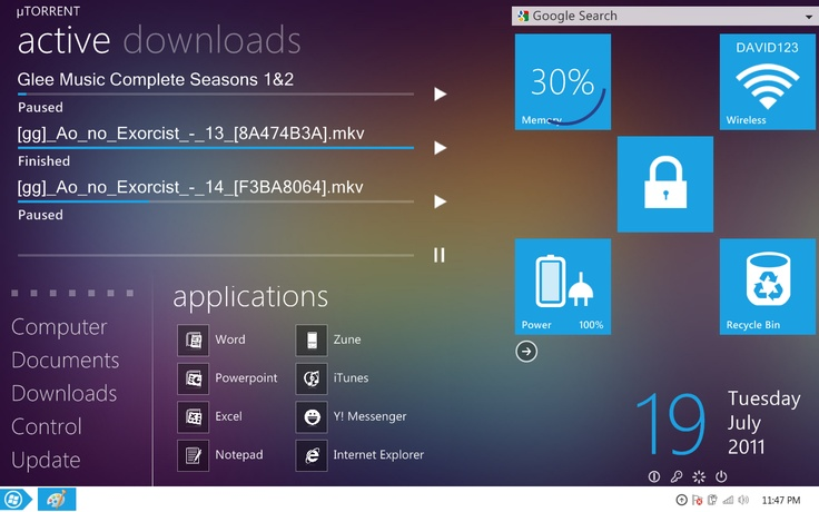 My Windows Metro Desktop