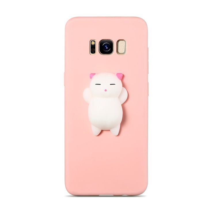 KISSCASE Case For Samsung S7 S8 S6 edge Cat Case Cute Silicon Black Pink Cover For Samsung A510 Note 8 case J7 2017 Fundas