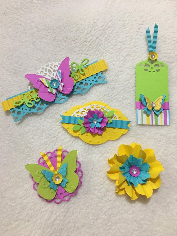 Scrapbook Embellishments...5 Piece Set of Very Bright and