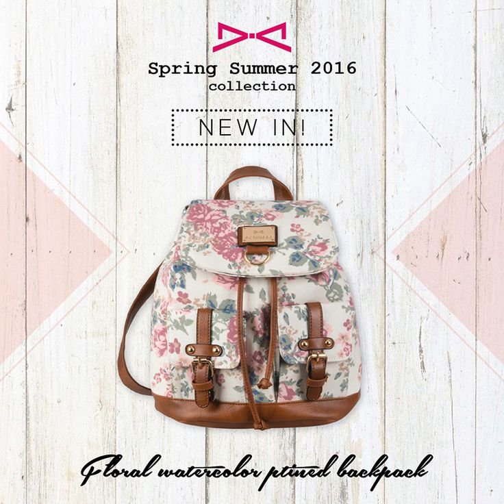 Floral watercolor ptined backpack