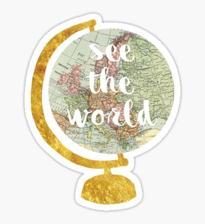 see the world globe 2 Sticker