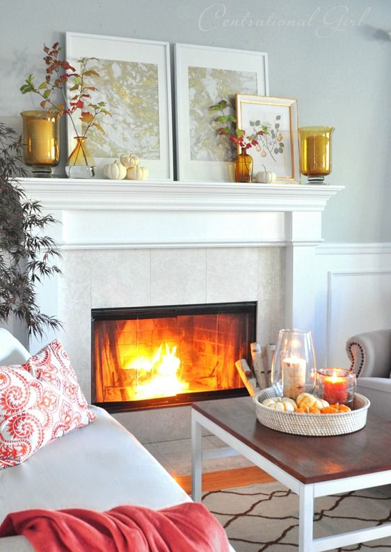 autumn mantel + link party (2012)