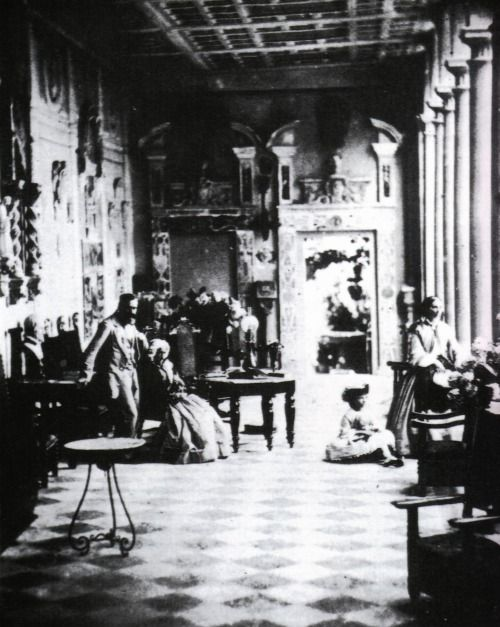 Anthony Trollope's brother, Tom, with his mother Fanny, daughter Beatrice (Bice), and wife Theodosia in their Florentine villa. After the death of his wife, Tom married his daughter's governess, Fanny Ternan. Fanny was the half sister of Charles Dickens' mistress, Ellen Ternan.
