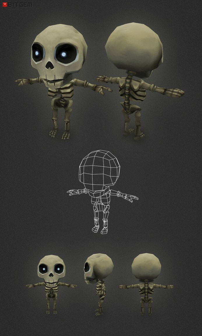 Mini Skeleton Base by bitgem on DeviantArt