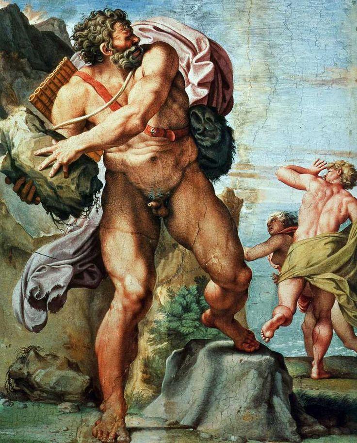 Polyphème lançant  un roc sur Acis par Carracci