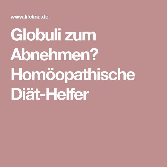 homöopathische globuli zum abnehmen