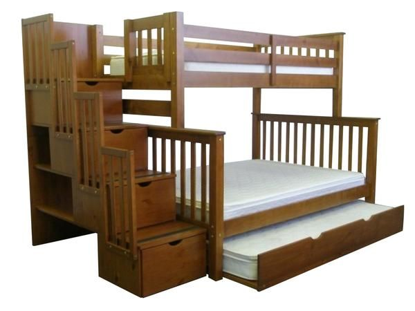 Bunk Bed Twin over Full Stairway Expresso with Trundle for only $895