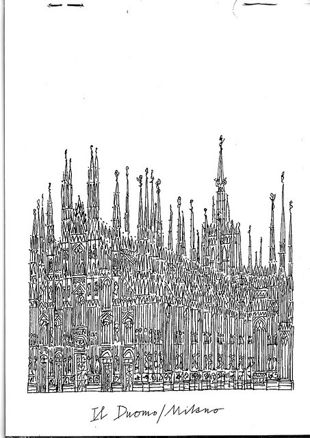 I love Alan Fletcher. (Duomo di Milano) #flickr #illustration #architecture #Milano