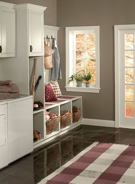 Totally digging the color of these walls: Benjamin Moore's Weimaraner.  I figure if I can't have the actual dog, I might as well have the color!  Thinking the brownish-grey will look pretty with nearly everything.