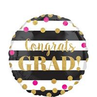 Pink & Black Graduation Party Supplies - Party City
