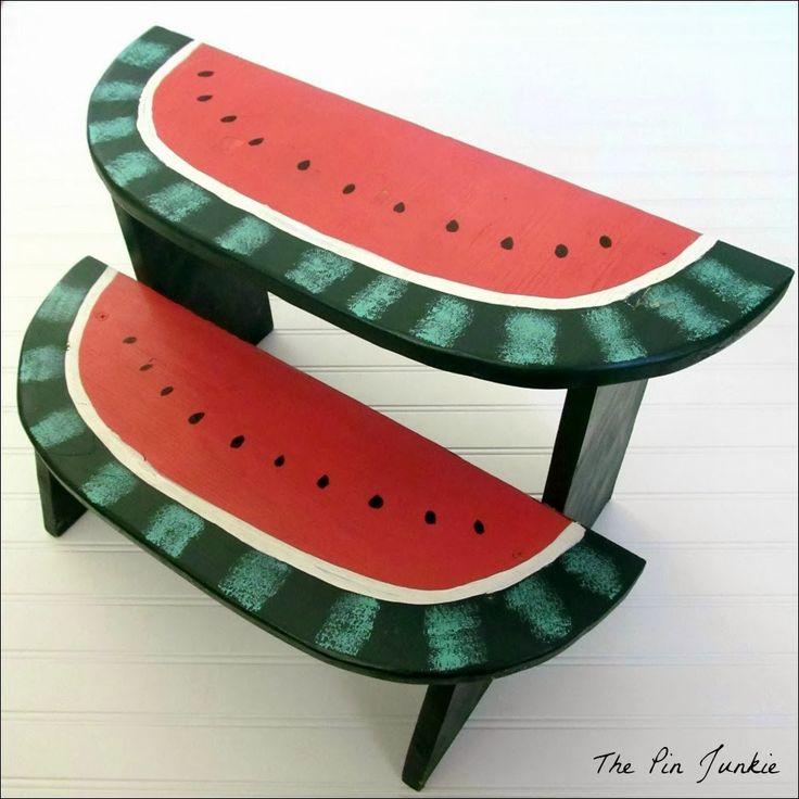 DIY watermelon step stool
