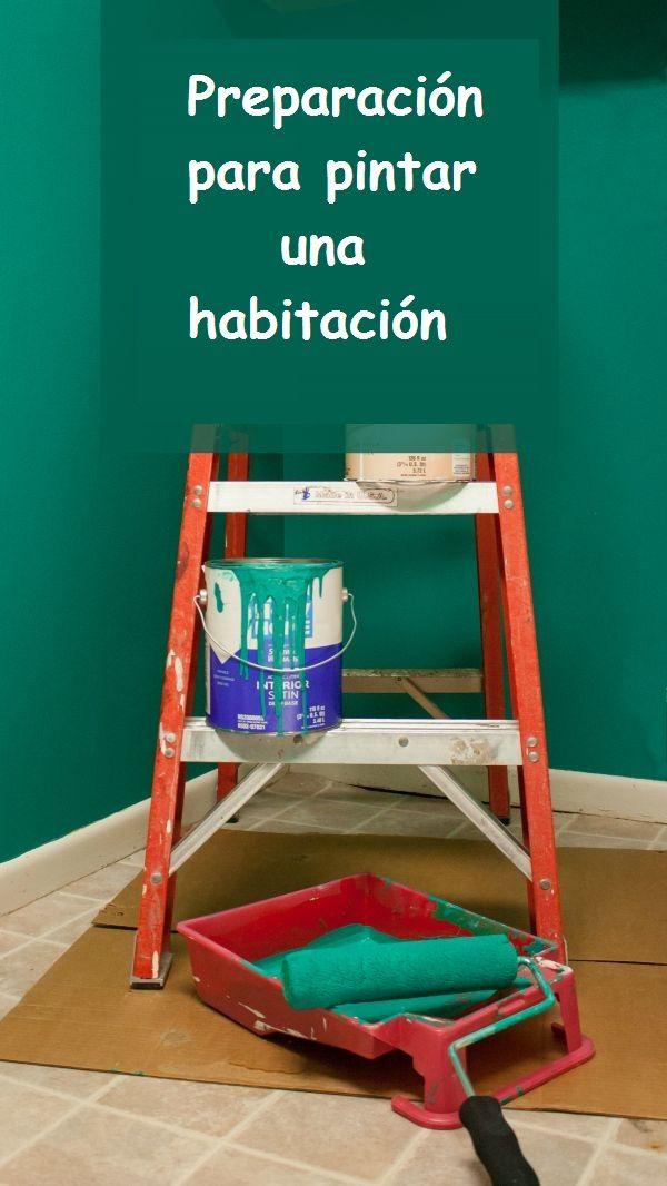 Preparación para pintar una habitación