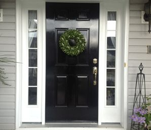 What You Should Know About Painting Your Front Door Black by SnazzyLittleThings