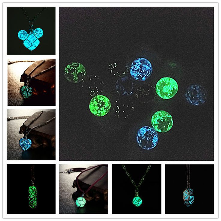 2015 summer glow in dark pendant necklace Heart of Ocean ball Twelve…