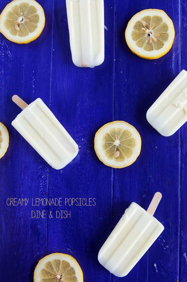 Sweet and Creamy Lemonade Popsicles - 4 simple ingredients!