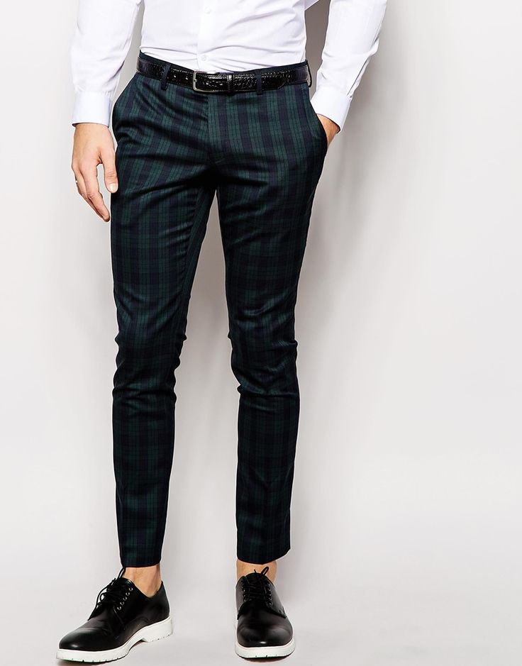 Selected Homme Light Tartan Suit Trousers in Skinny Fit