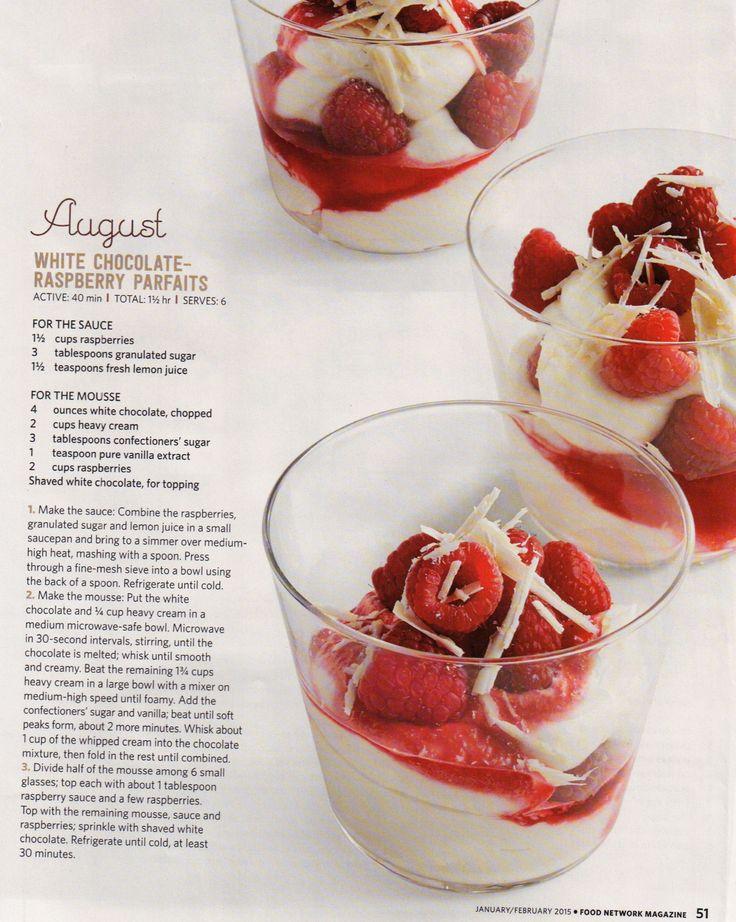 White Chocolate Raspberry Parfaits