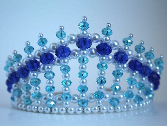 Dark Blue and Turquoise Diva Tiara  Mermaid by CreativeCalling1