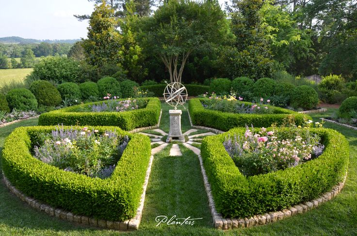 Garden Design With Parterre Rose Garden With Armillary Sphere. A Planters  Design With French Gardens