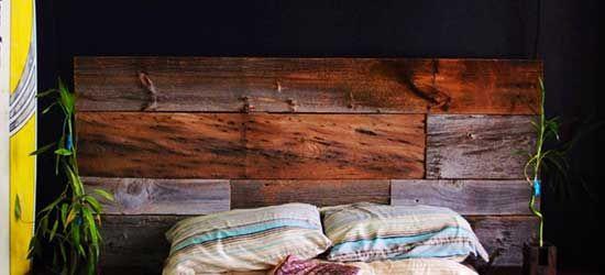 Tête de lit en bois de grange  Projets à essayer  Pinterest