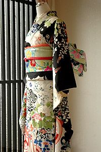 Antique Black FURISODE