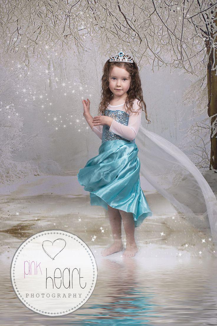 Frozen themed photo studio shoots Launceston Tasmania .