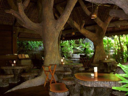 Karon Beach, Phuket Thailand Cave restaurant