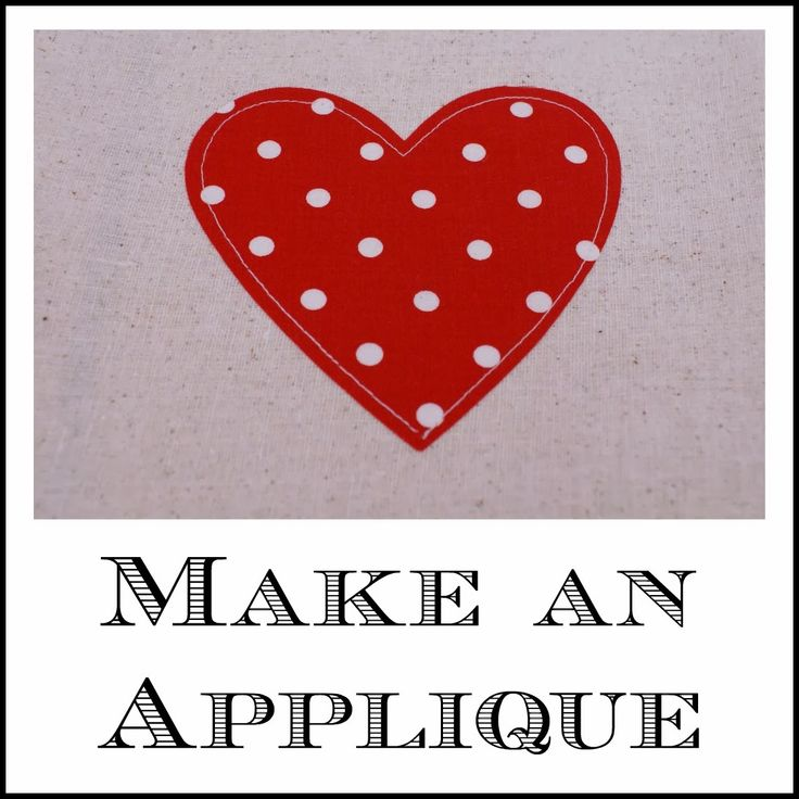How to Make an Applique - make shapes, letters, monograms, etc. via Life is {Sew} Daily