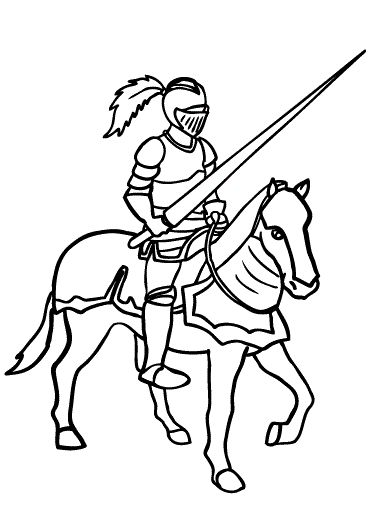 Top 10 Knight Coloring Pages For Kids | Princess coloring ...