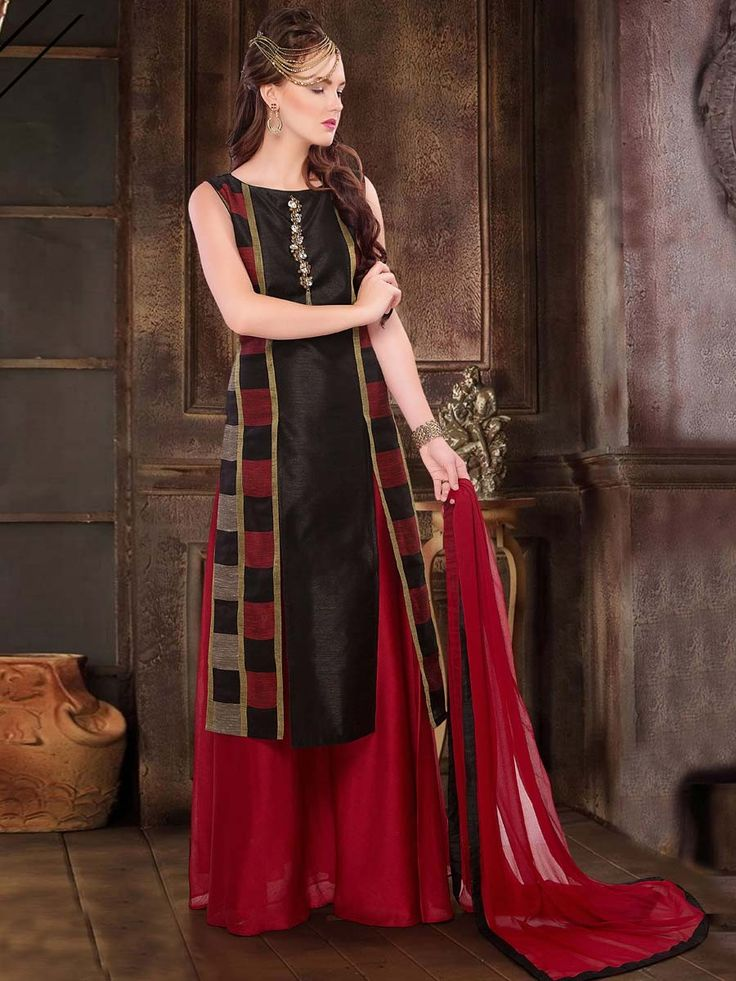 A sweet design to redefine contours of your style and elegance. Item Code: SLUM15 http://www.bharatplaza.com/women/readymade-suits.html