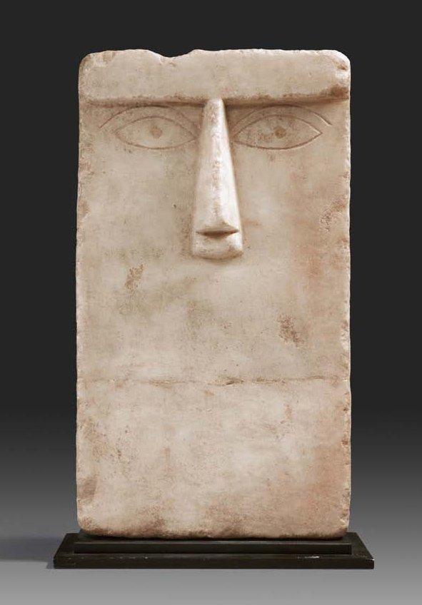 South Arabian alabaster stelae. Ca. 3rd-1st century B.C.