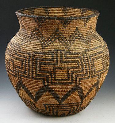 Apache Native American Indian Baskets,  - Apache Olla