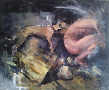"Saatchi Online Artist Liviu Mihai; Painting, ""Fear"" #art"