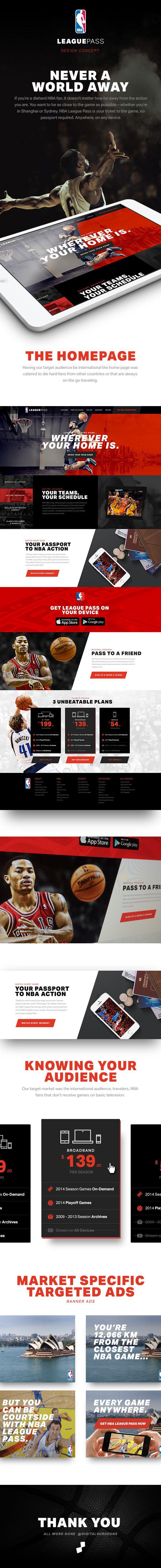 NBA League Pass on Web Design Served