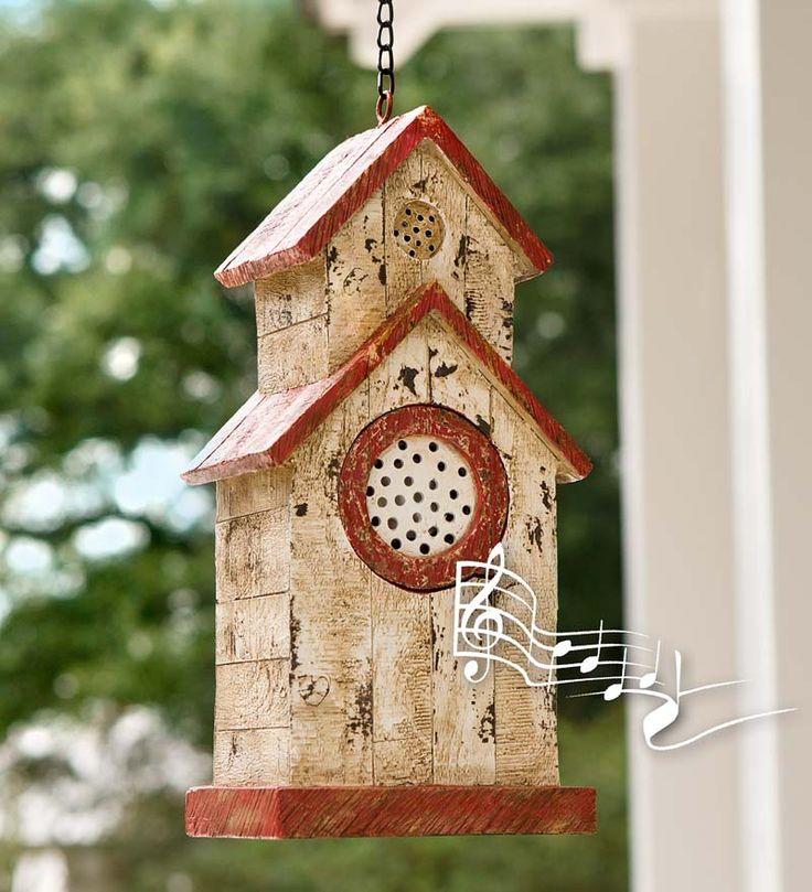 Bird House Bluetooth Speaker | Garden Art | Plow