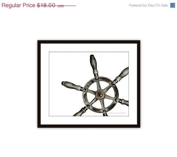 30 best sextant ship bell images on pinterest ships boat and items similar to ship wheel wall art print nautical decor for dudes men centric grey black fathers day under 20 on etsy fandeluxe Image collections