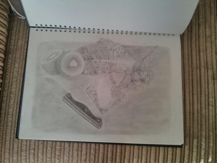 Tonal study, Fruit Platter - Holly Brooker