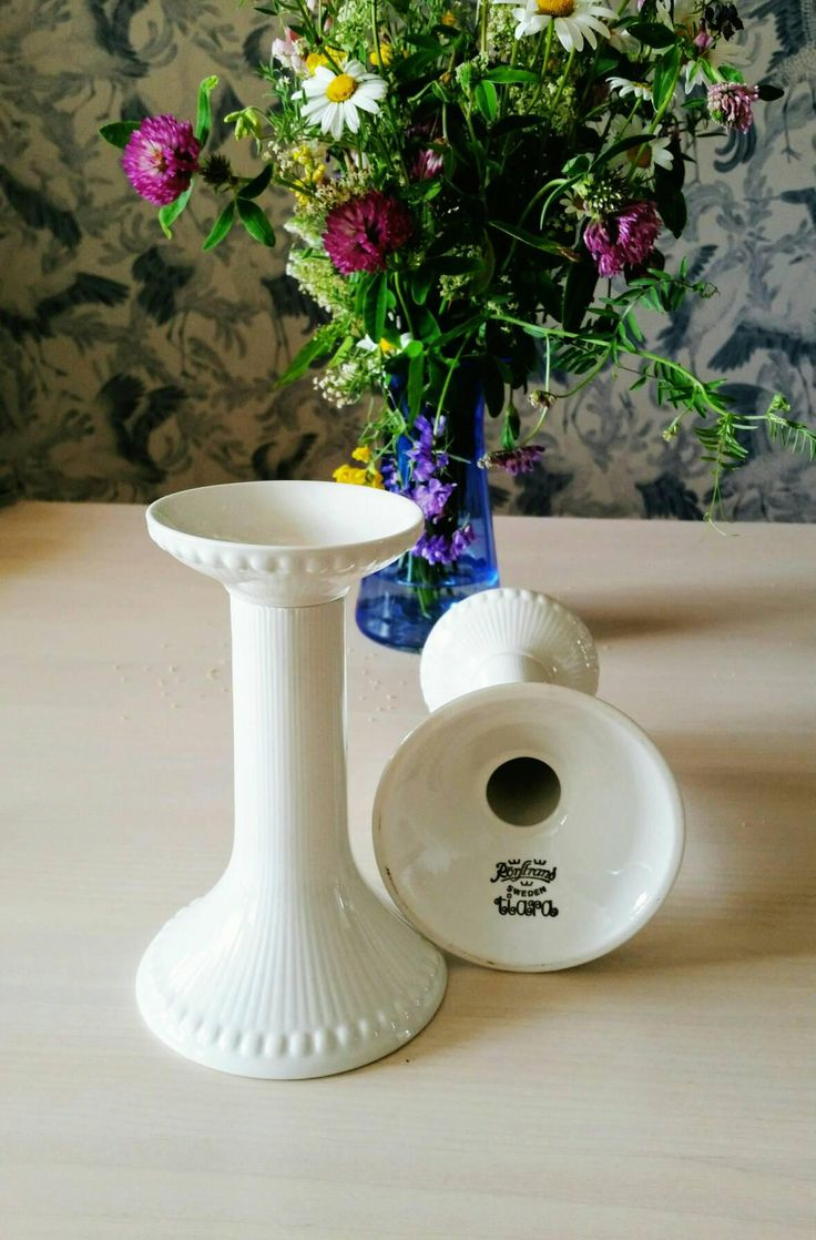 Rörstrand 'Tiara' candle sticks, design Hertha Bengtson