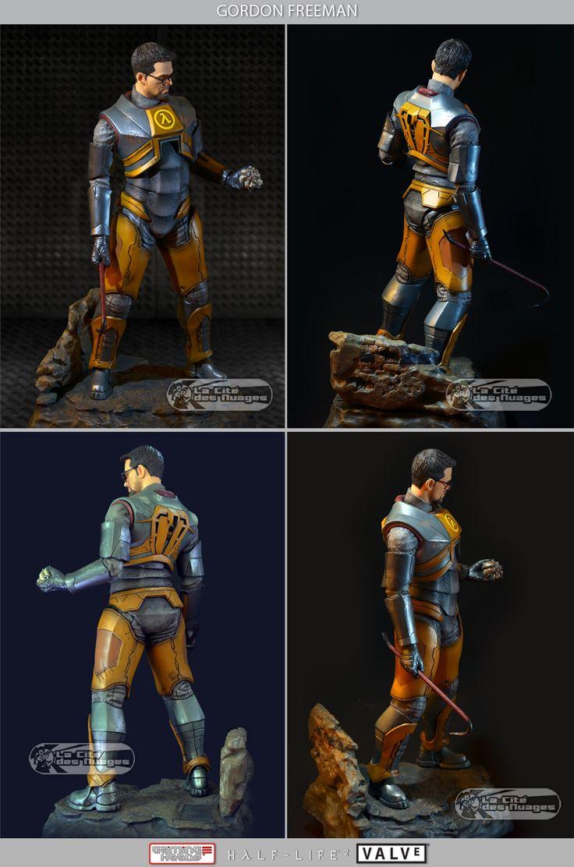 Half-Life 2 Gordon Freeman 51cm Statue 1/4 Gaming Heads